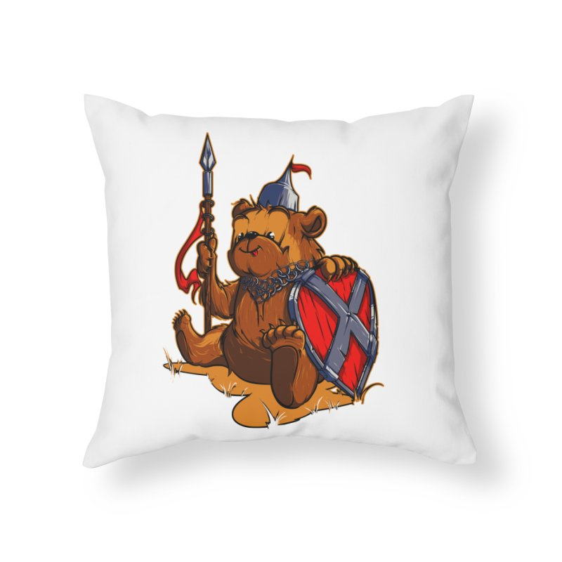 Bear Home Throw Pillow by fishark's Artist Shop