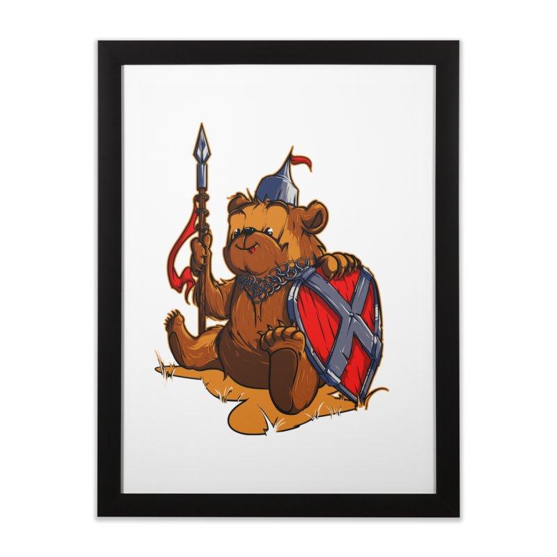 Bear Home Framed Fine Art Print by fishark's Artist Shop