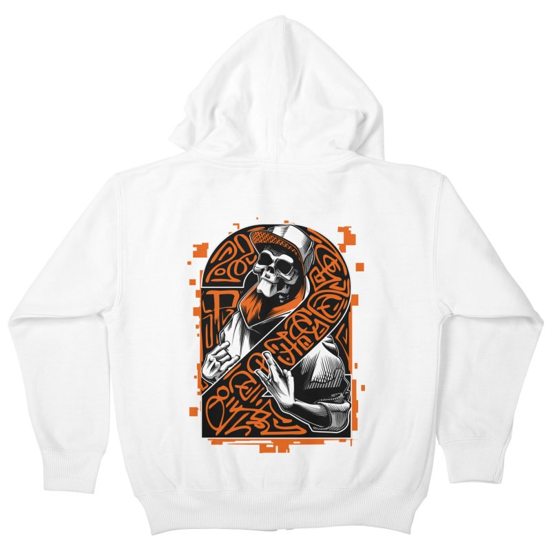 be yourself  Kids Zip-Up Hoody by fishark's Artist Shop