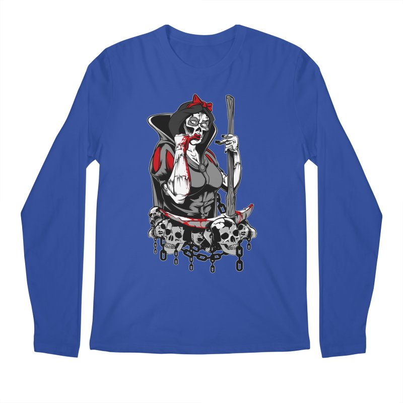 Snow White Men's Longsleeve T-Shirt by fishark's Artist Shop