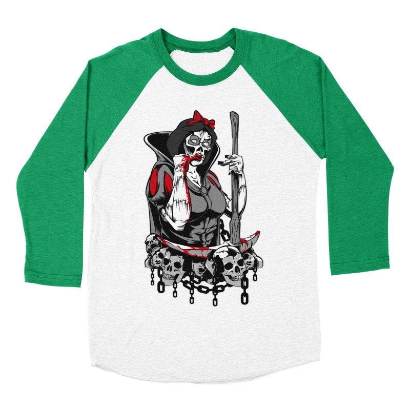 Snow White Women's Baseball Triblend T-Shirt by fishark's Artist Shop