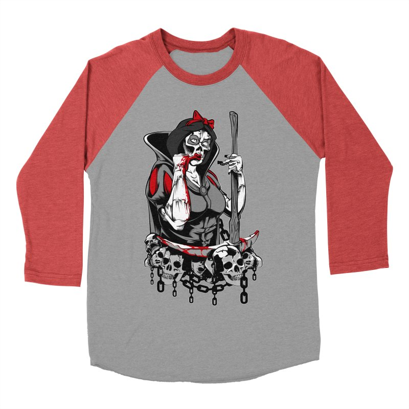 Snow White Men's Baseball Triblend T-Shirt by fishark's Artist Shop