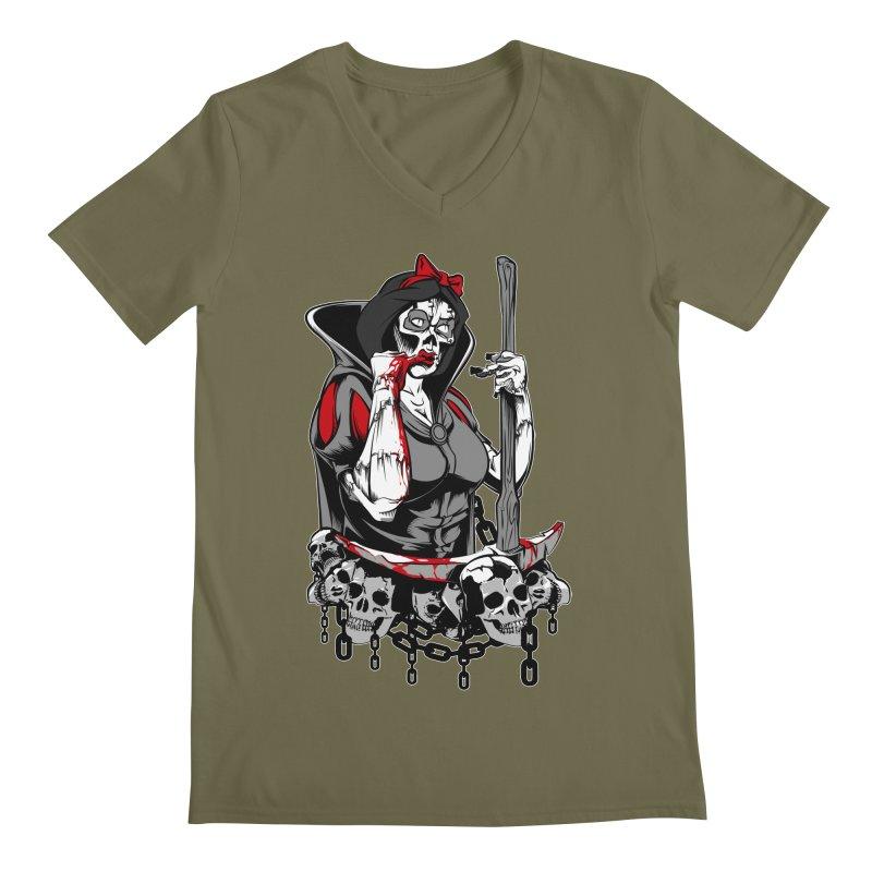 Snow White Men's V-Neck by fishark's Artist Shop