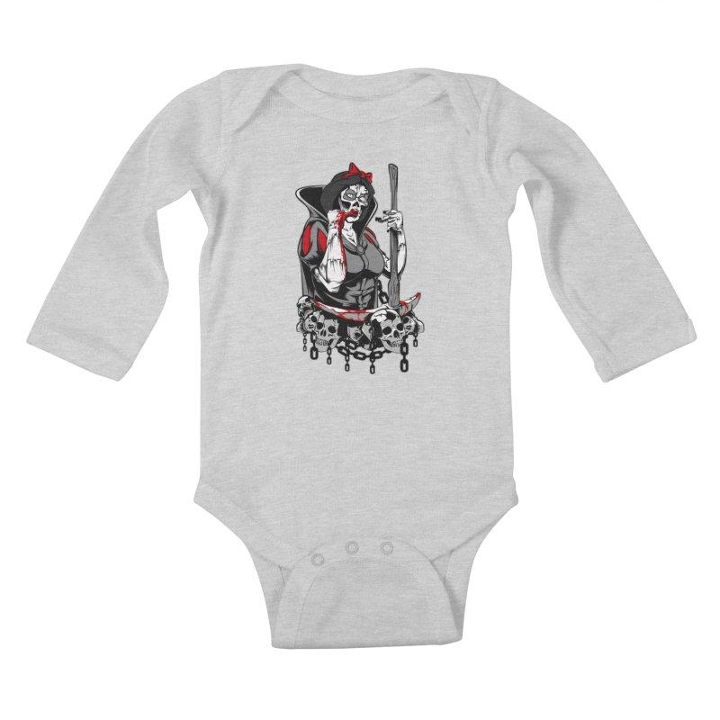 Snow White Kids Baby Longsleeve Bodysuit by fishark's Artist Shop
