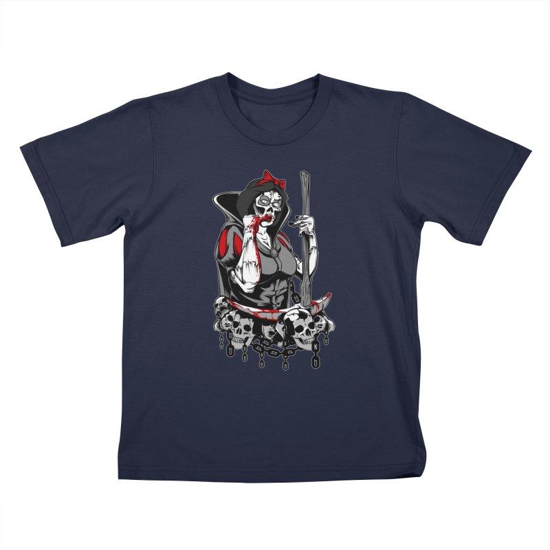 Snow White Kids T-shirt by fishark's Artist Shop
