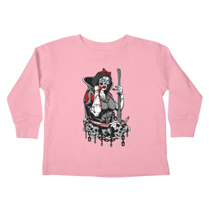Snow White Kids Toddler Longsleeve T-Shirt by fishark's Artist Shop
