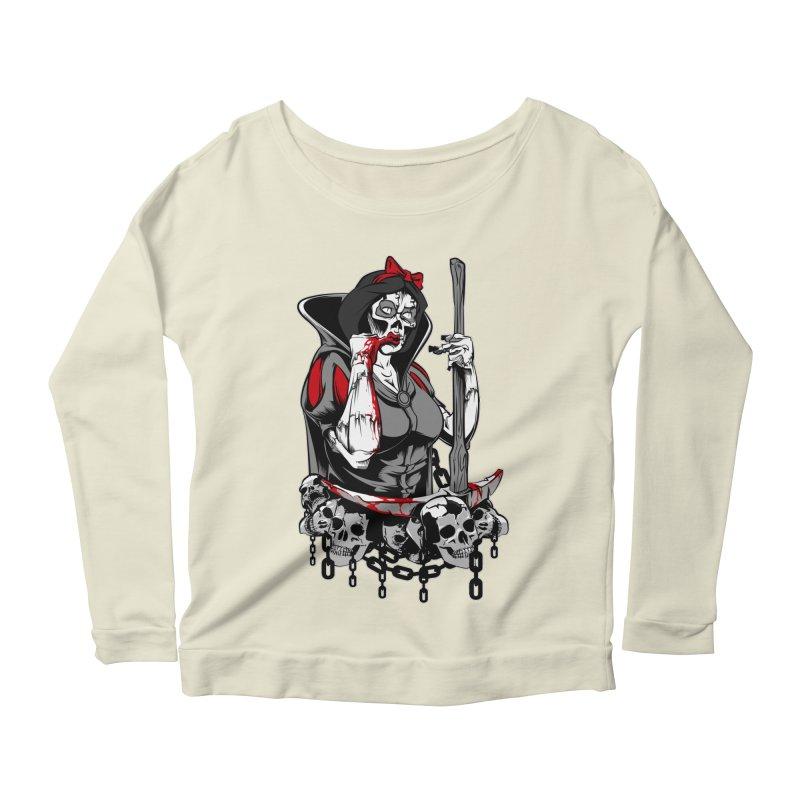 Snow White Women's Longsleeve Scoopneck  by fishark's Artist Shop
