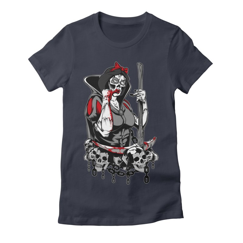 Snow White Women's Fitted T-Shirt by fishark's Artist Shop