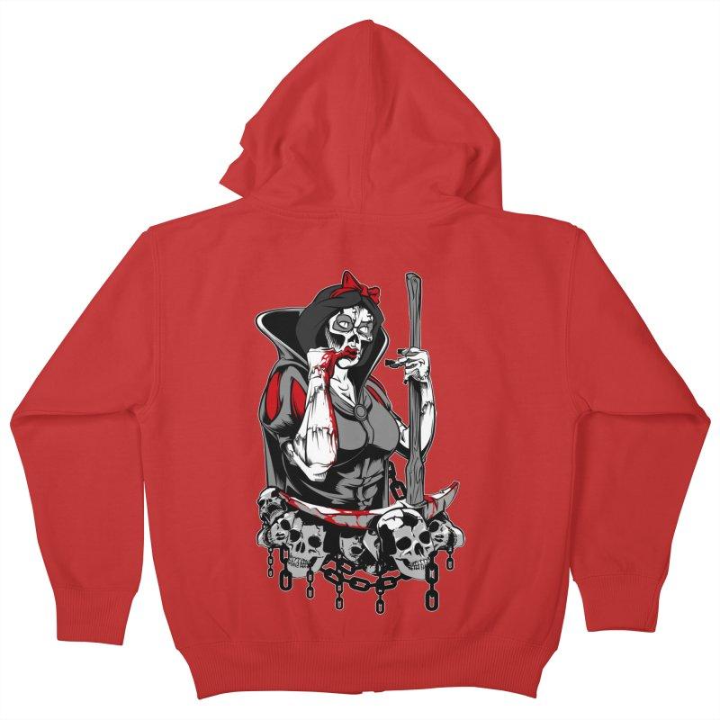 Snow White Kids Zip-Up Hoody by fishark's Artist Shop
