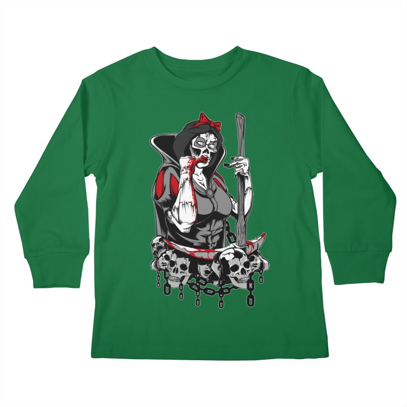 Snow White Kids Longsleeve T-Shirt by fishark's Artist Shop