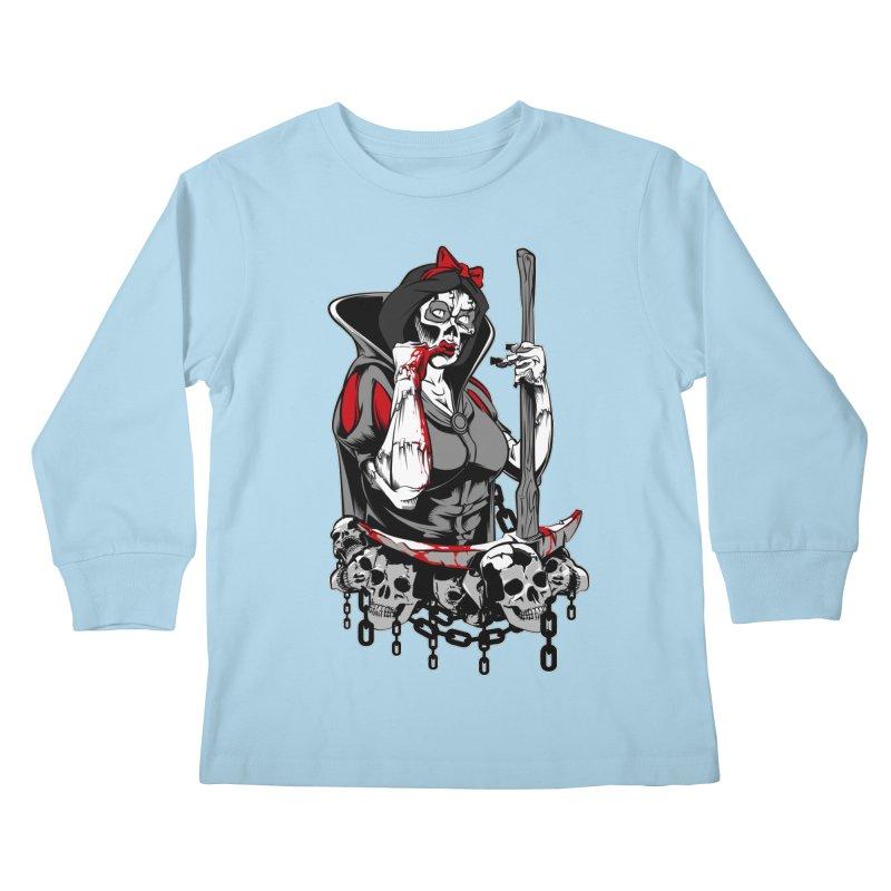 Snow White Kids Longsleeve T-Shirt by fishark's Artist Shop