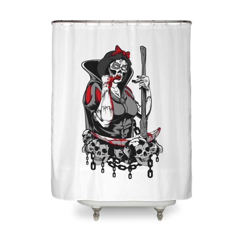 Snow White Home Shower Curtain by fishark's Artist Shop