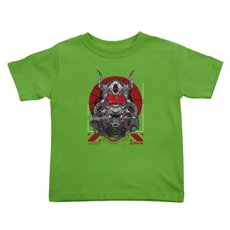 Cyber Samurai Kids Toddler T-Shirt by fishark's Artist Shop