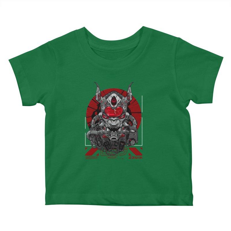 Cyber Samurai Kids Baby T-Shirt by fishark's Artist Shop