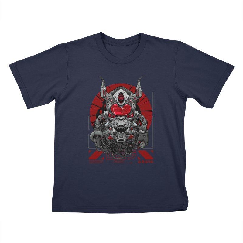 Cyber Samurai Kids T-Shirt by fishark's Artist Shop