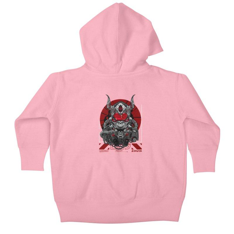 Cyber Samurai Kids Baby Zip-Up Hoody by fishark's Artist Shop