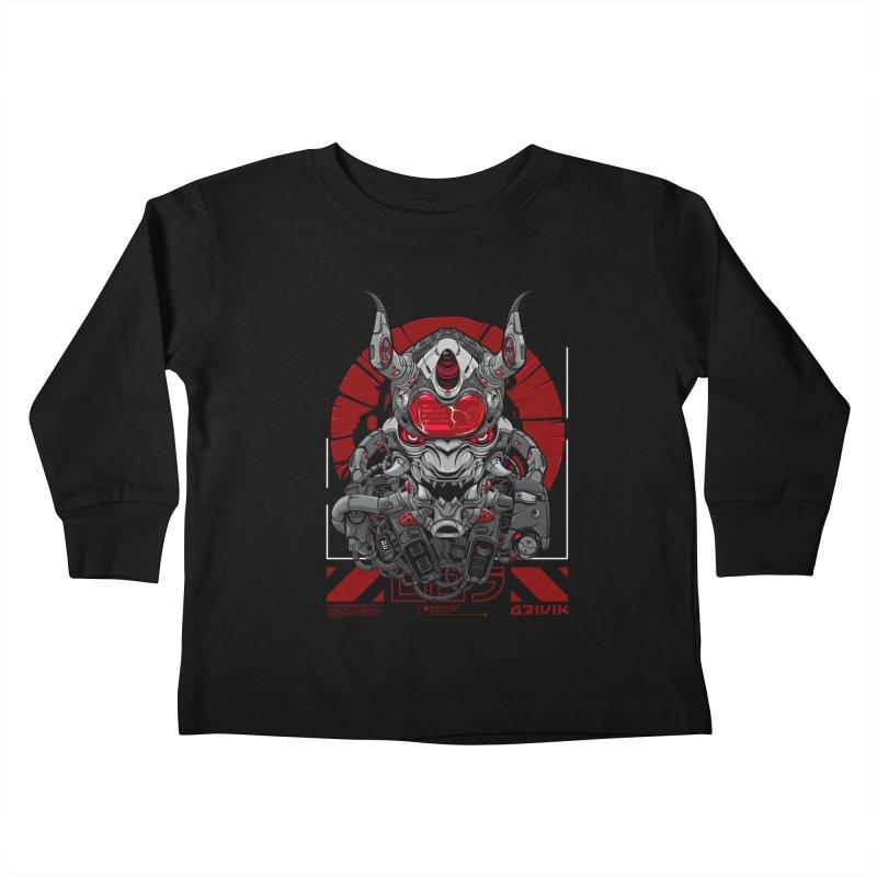 Cyber Samurai Kids Toddler Longsleeve T-Shirt by fishark's Artist Shop