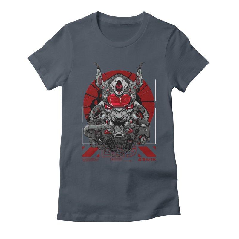 Cyber Samurai Women's T-Shirt by fishark's Artist Shop