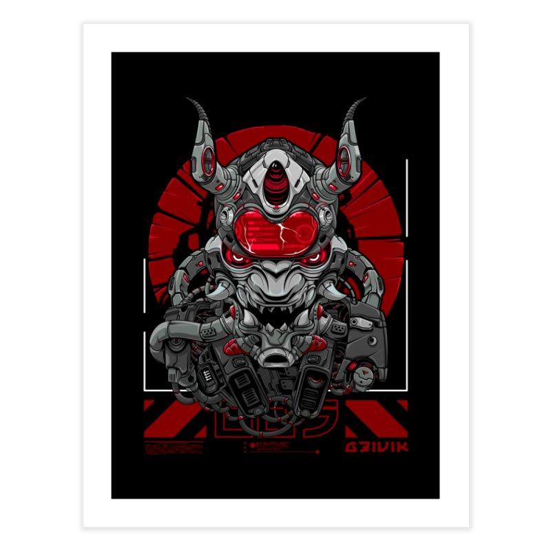 Cyber Samurai Home Fine Art Print by fishark's Artist Shop