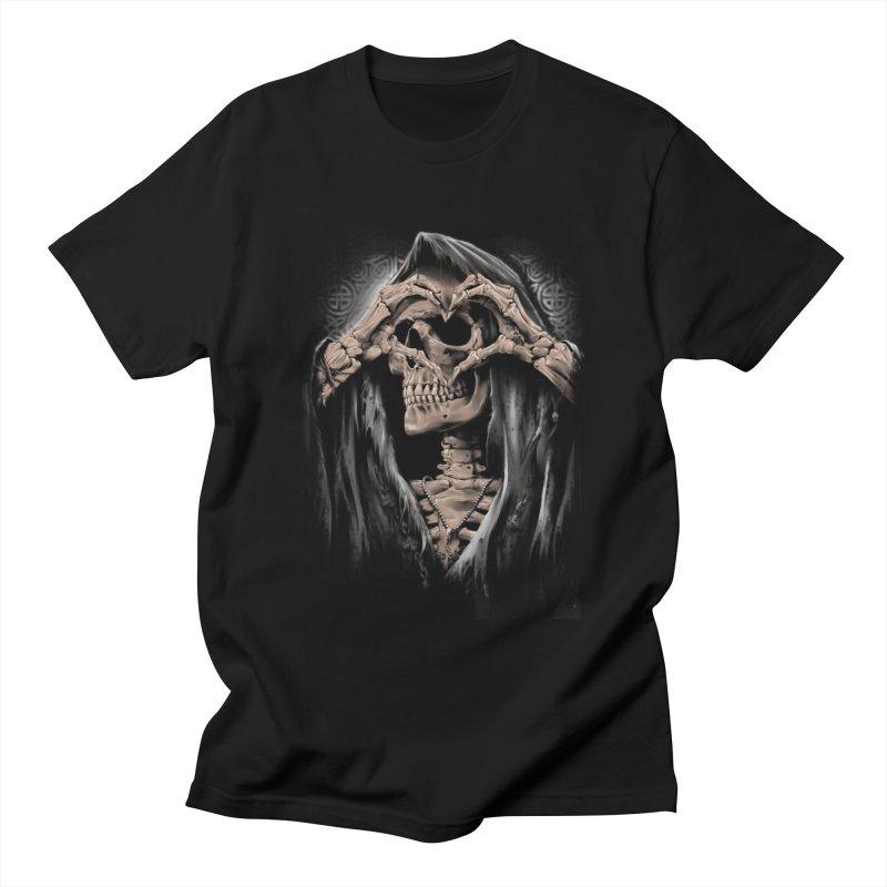 Skeleton love Men's T-Shirt by fishark's Artist Shop