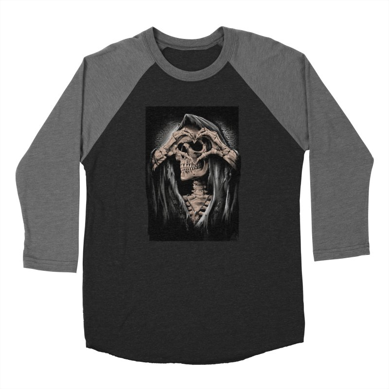 Skeleton love Women's Longsleeve T-Shirt by fishark's Artist Shop
