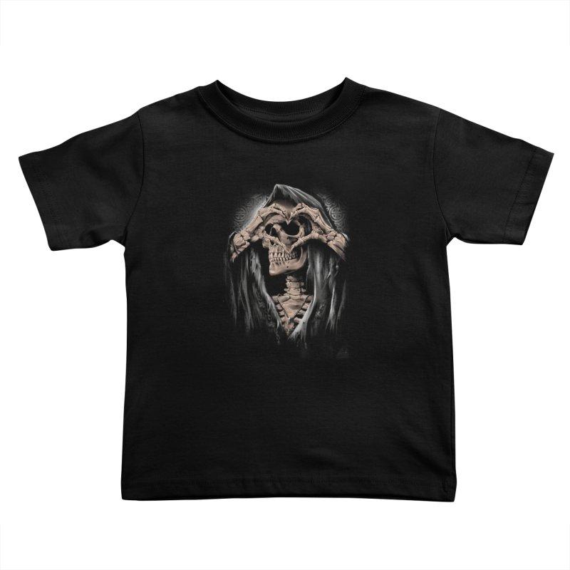 Skeleton love Kids Toddler T-Shirt by fishark's Artist Shop
