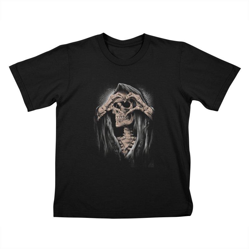 Skeleton love Kids T-Shirt by fishark's Artist Shop