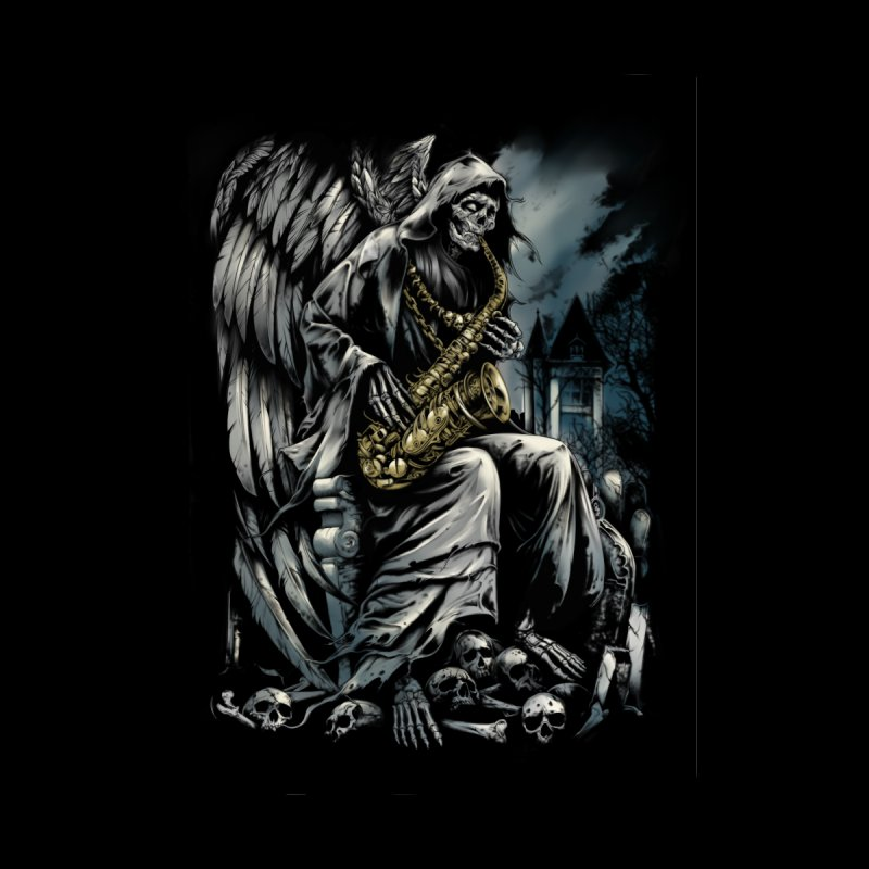Skeleton saxophonist Men's T-Shirt by fishark's Artist Shop