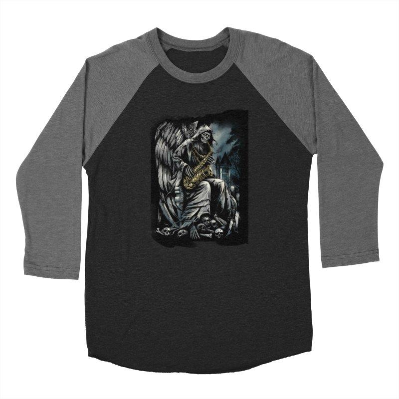 Skeleton saxophonist Women's Longsleeve T-Shirt by fishark's Artist Shop