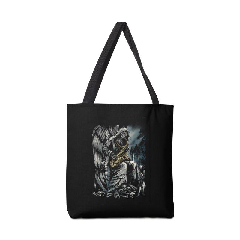 Skeleton saxophonist Accessories Bag by fishark's Artist Shop