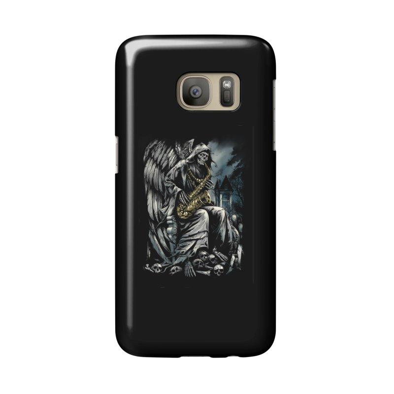 Skeleton saxophonist Accessories Phone Case by fishark's Artist Shop