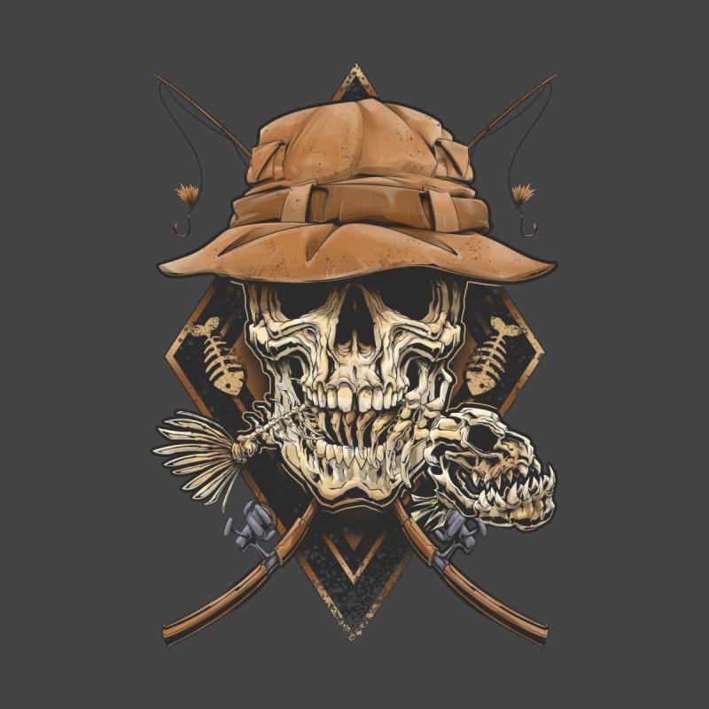 skull fishing Kids Longsleeve T-Shirt by fishark's Artist Shop