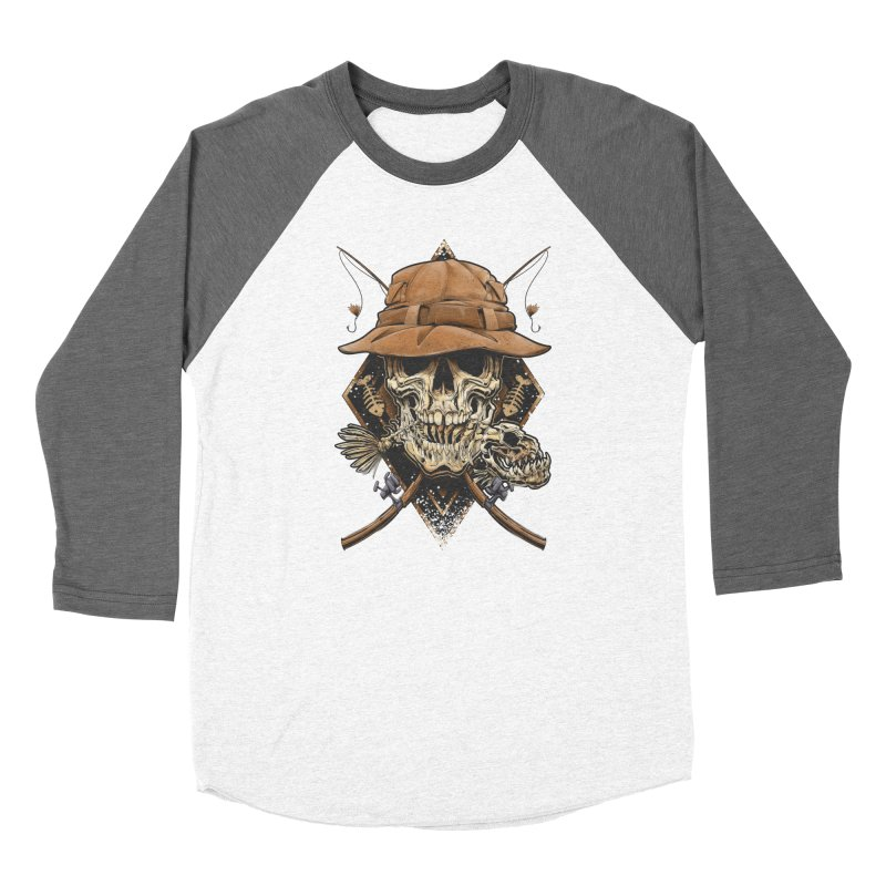 skull fishing Women's Longsleeve T-Shirt by fishark's Artist Shop
