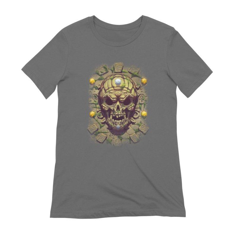 skull aztec Women's T-Shirt by fishark's Artist Shop
