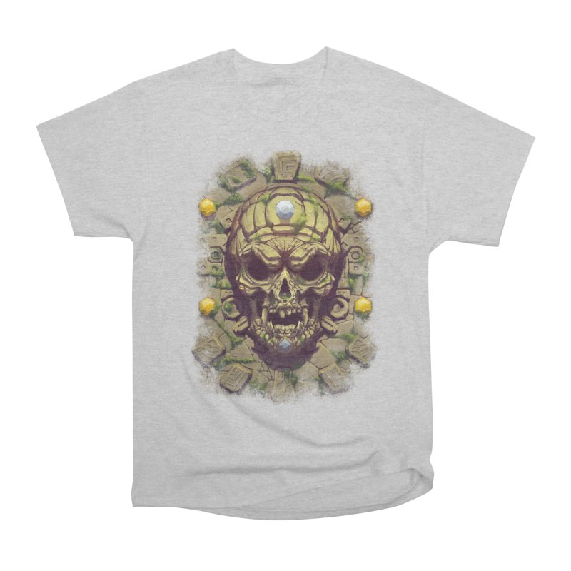 skull aztec Men's T-Shirt by fishark's Artist Shop