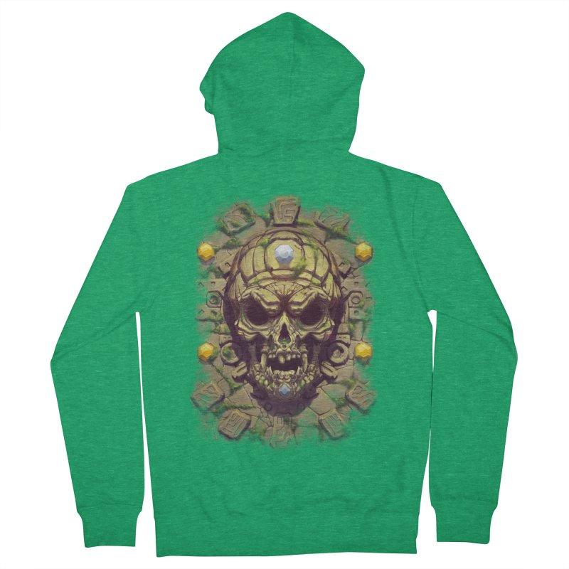 skull aztec Men's Zip-Up Hoody by fishark's Artist Shop
