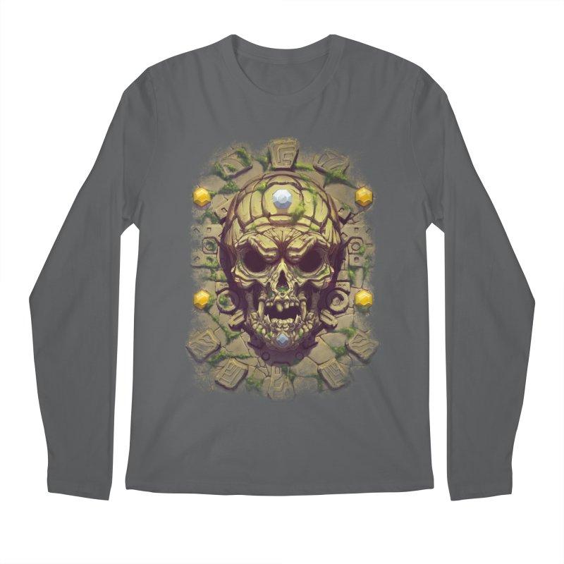 skull aztec Men's Longsleeve T-Shirt by fishark's Artist Shop