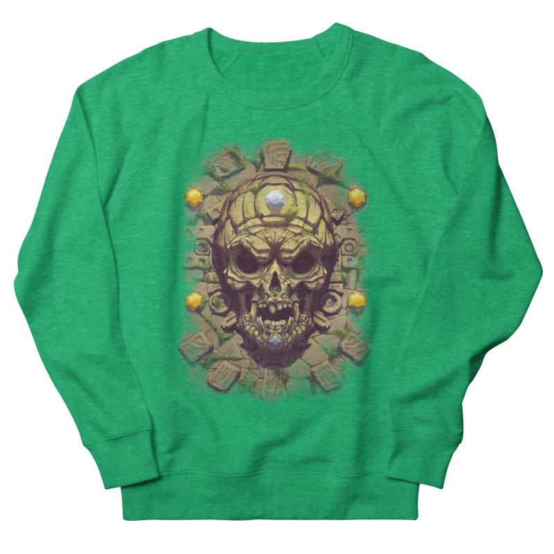 skull aztec Women's Sweatshirt by fishark's Artist Shop