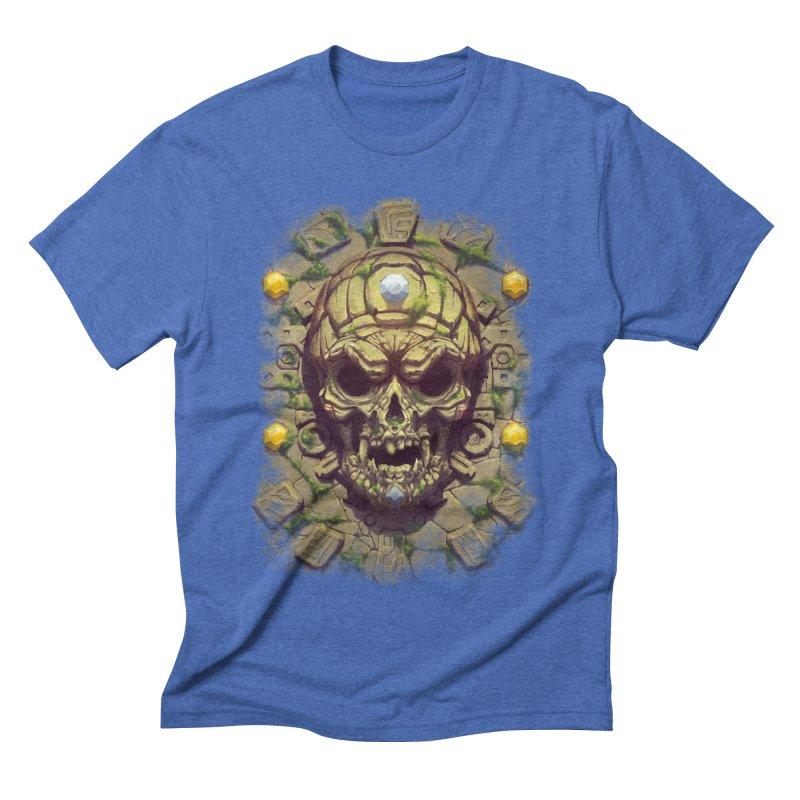 skull aztec Men's T-Shirt by fishark's Artist Shop