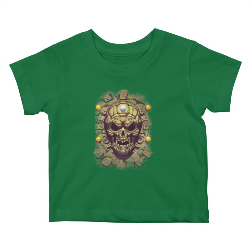 skull aztec Kids Baby T-Shirt by fishark's Artist Shop