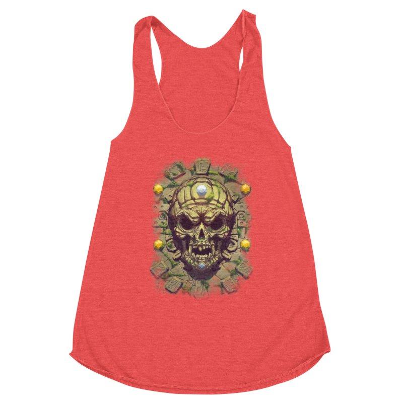 skull aztec Women's Tank by fishark's Artist Shop