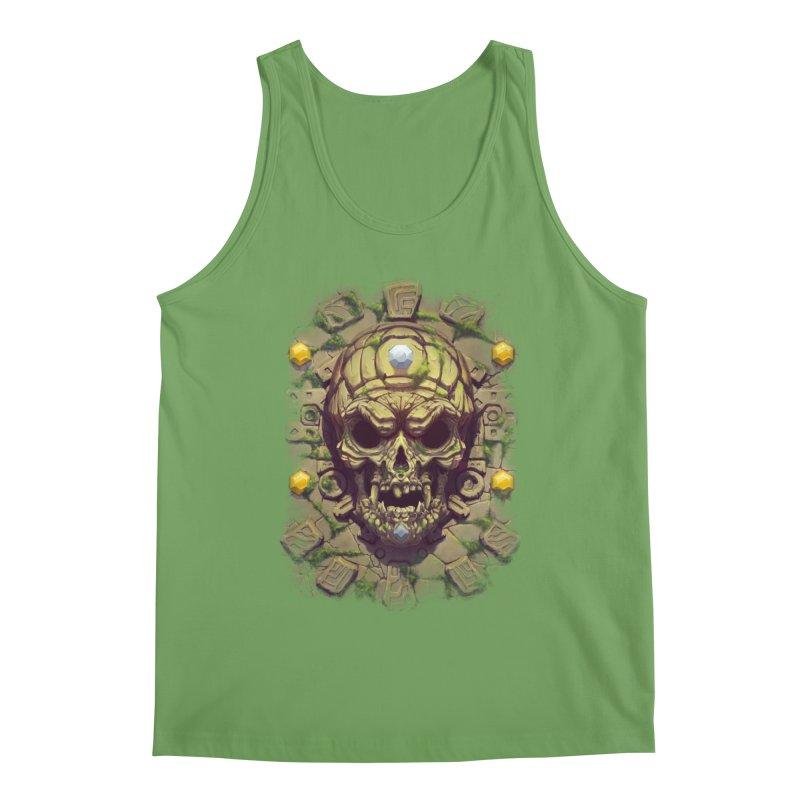 skull aztec Men's Tank by fishark's Artist Shop
