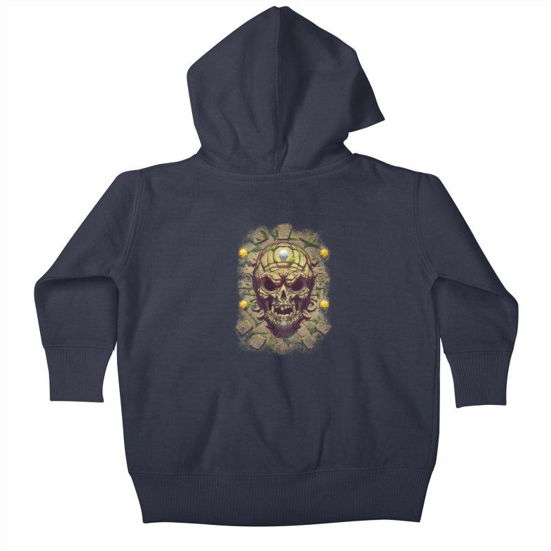 skull aztec Kids Baby Zip-Up Hoody by fishark's Artist Shop