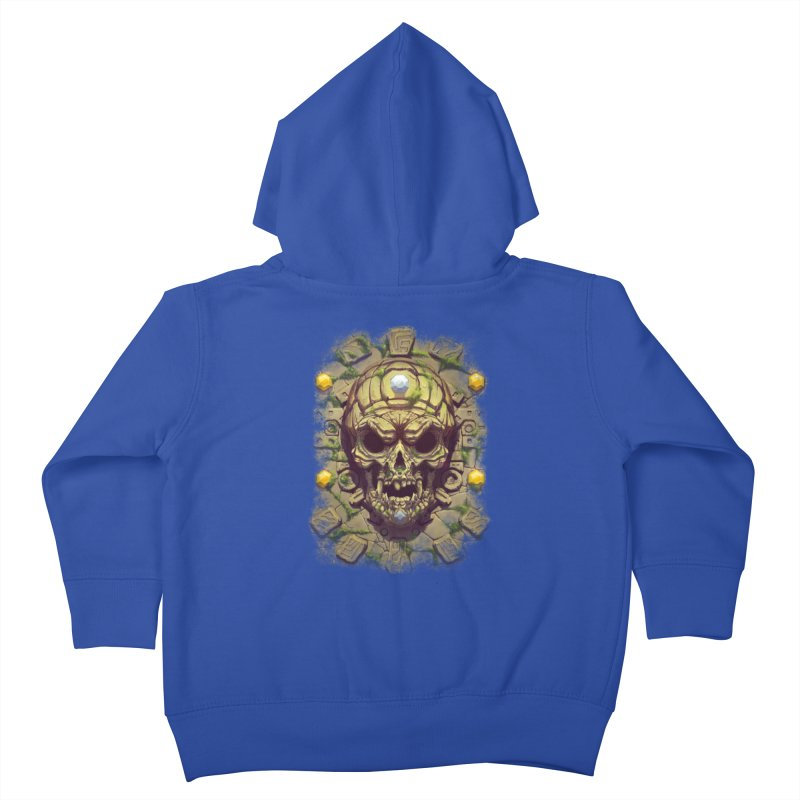 skull aztec Kids Toddler Zip-Up Hoody by fishark's Artist Shop