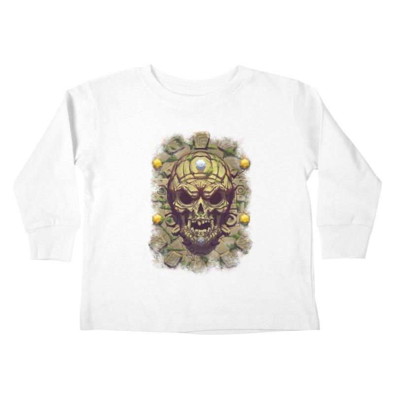 skull aztec Kids Toddler Longsleeve T-Shirt by fishark's Artist Shop