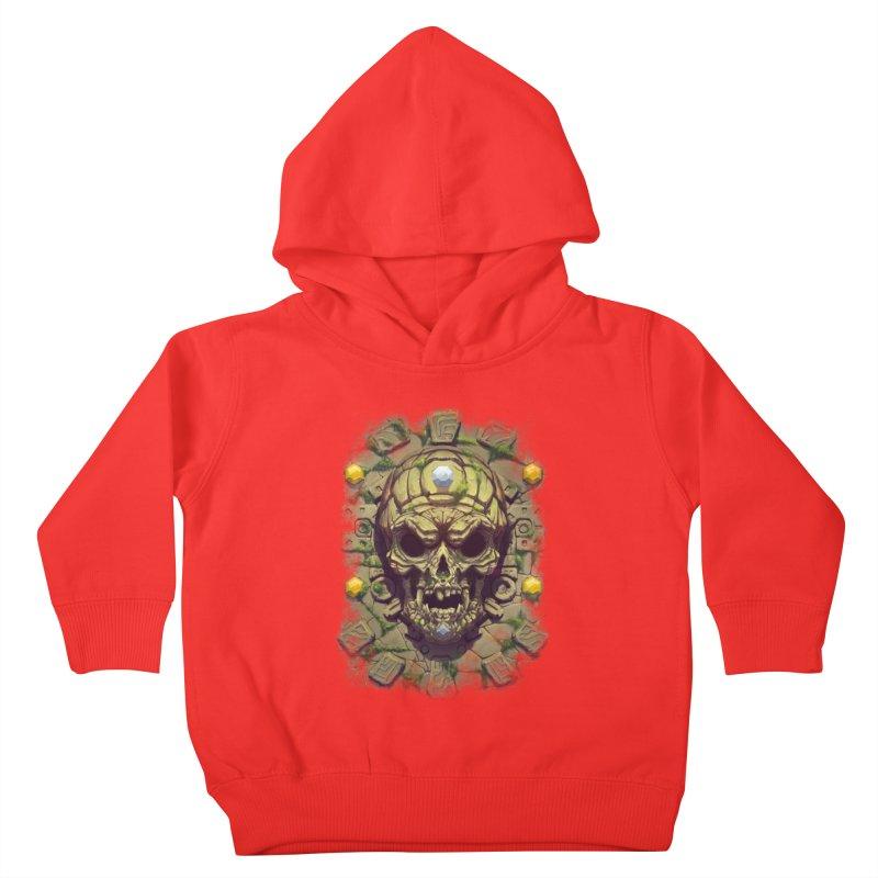 skull aztec Kids Toddler Pullover Hoody by fishark's Artist Shop