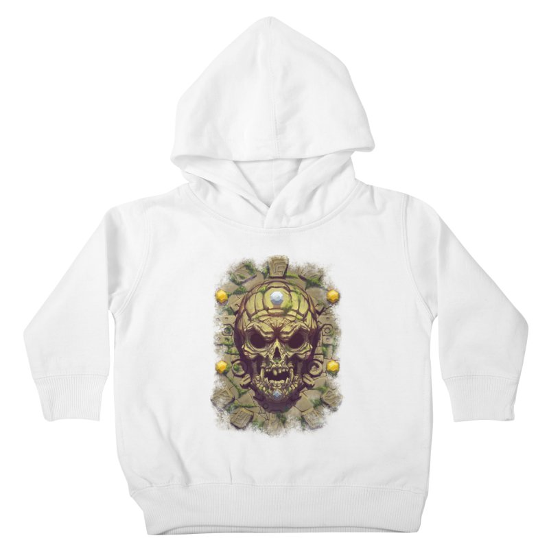 skull aztec Kids Toddler Pullover Hoody by fishark's Artist Shop