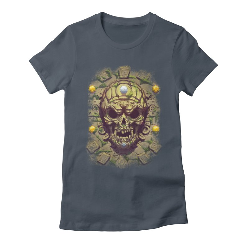 skull aztec Women's T-Shirt by fishark's Artist Shop