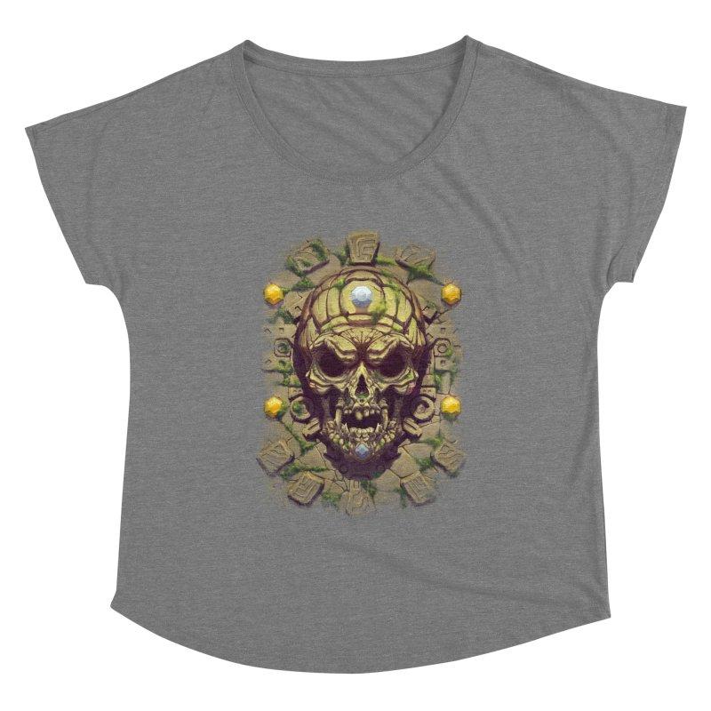 skull aztec Women's Scoop Neck by fishark's Artist Shop