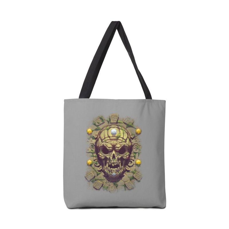 skull aztec Accessories Bag by fishark's Artist Shop